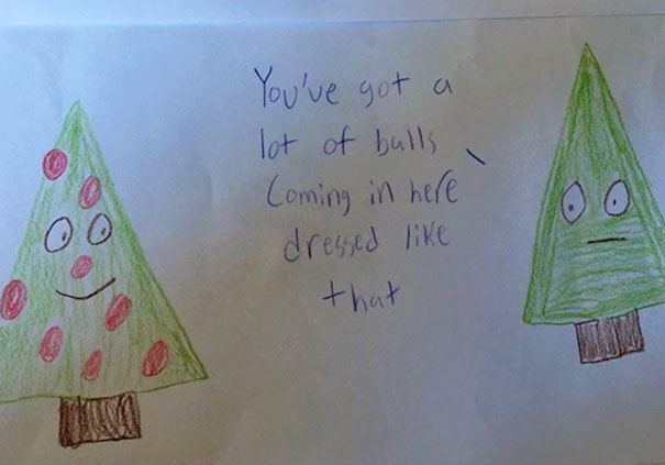 My Teacher Friend Was Given This By A Student. Merry Christmas Indeed