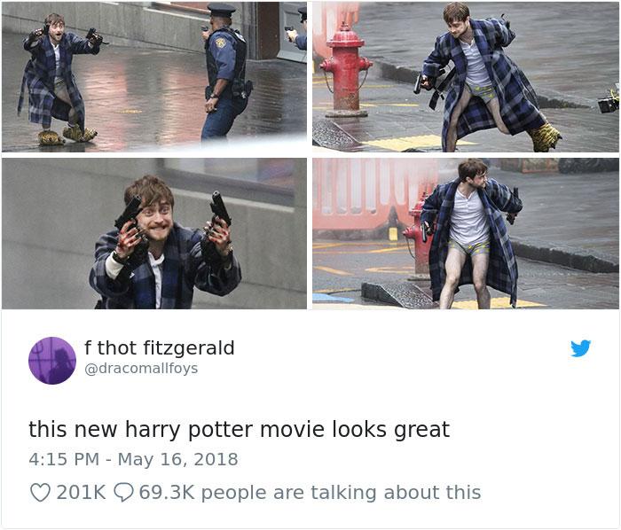 Daniel Radcliffe Holding Guns