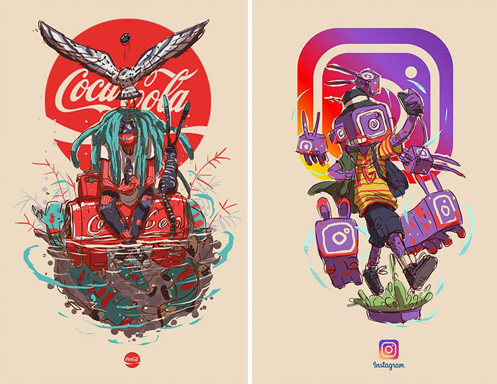 This Artist Illustrated Iconic Brands As If They Were Humans
