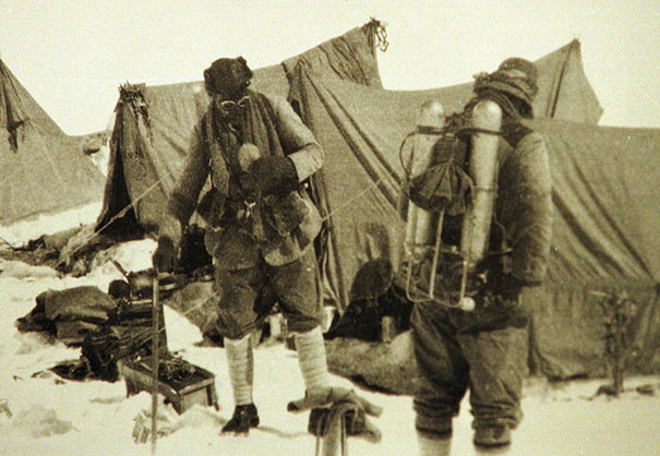 George Mallory And Sandy Irvine Just Before They Began Their Ascent Of Mt. Everest In 1924, It's Still Debated If They Reached The Top, Either Way, They Never Made It Back