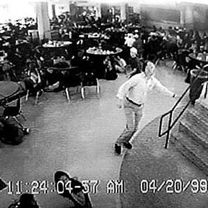 """William """"Dave"""" Sanders Guiding More Than 100 Students Out Of The Cafeteria During Columbine High School Massacre, He Was Later Shot Twice In The Chest And Didn't Survive"""