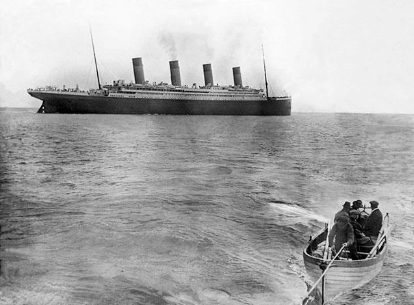 One Of The Last Known Photos Of Titanic Afloat. It Sank On 15 April 1912 After Colliding With An Iceberg. There Were An Estimated 2,224 Passengers And Crew Aboard - More Than 1,500 Didn't Survive