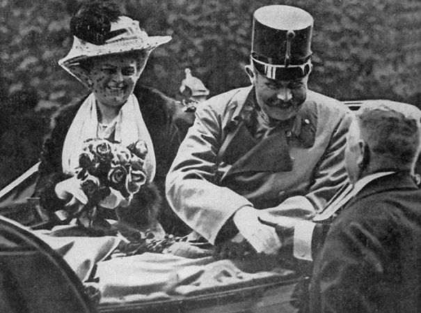 Archduke Ferdinand And His Wife Sophie 1h Before They Would Be Shot And Killed By Serb Nationalist Gavrilo Princip - This Event Was The Trigger For The Wwi