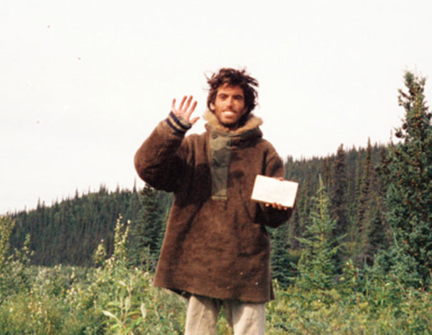 """Christopher McCandless'es (The Man From """"Into The Wild"""") Final Self Portrait - His Decomposed Body Was Found By Moose Hunters In 1992. He Lived In An Abandoned Bus For Over 100 Days. His Cause Of Death Was Officially Ruled As Starvation, But The Exact Cause Is Still Debated"""