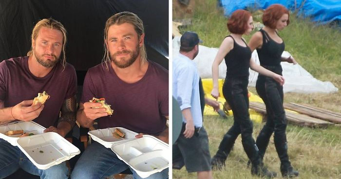 13 Photos Of Avengers With Their Stunt Doubles That Instantly Make The Actors Less Cool