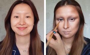 Desafiaron a esta bloguera china a transformarse en la Mona Lisa, pero no esperaban esto