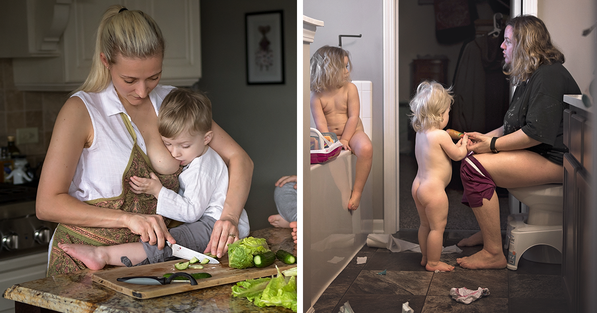 """I Took These 22 Brutally Honest Photos Of Moms To Show What """"Mother's Day"""" Really Looks Like"""