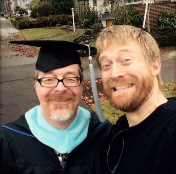 Me And My Dad (25, And 51) Just Graduated College In The Same Class!