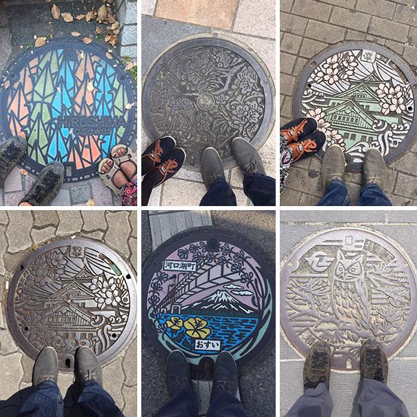 Japan's                                                          Manhole Covers                                                          Are Beautiful