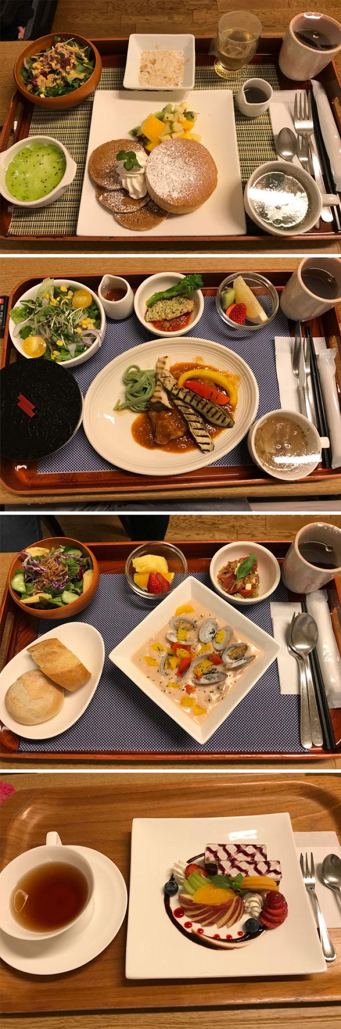 Hace poco di a luz en Japón y esta es alguna de la comida que me dieron en el hospital