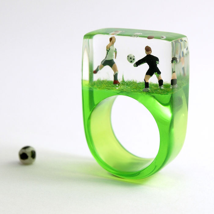 Let The Games Begin! I Had A Lot Of Fun Creating A Small Resin Jewelry Line For All Soccer World Championship Fans