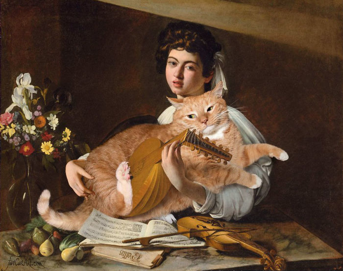 Famous-Paintings-Zarathustra-Fat-Cat-New-Art-Svetlana-Petrova