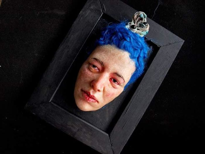 I Sculpt Faces Of Polymer Clay