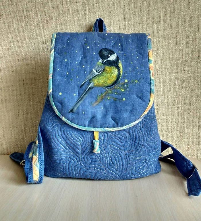 Together With My Mom, We Create One-Of-A-Kind Hand-Painted Backpacks
