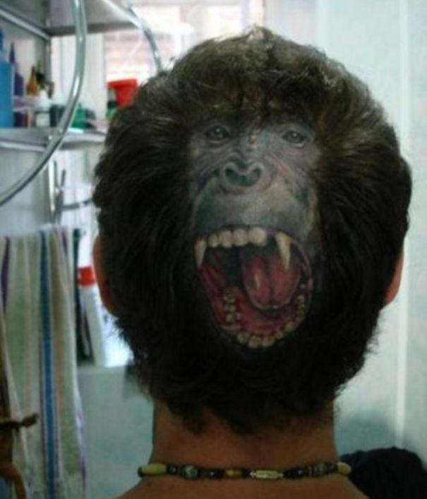 Задняя часть головы татуировки