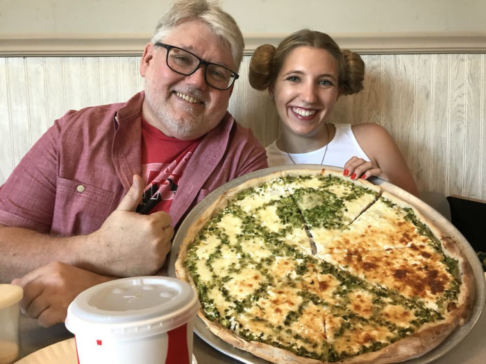 My Favorite Pizzeria Made Me And My Dad A Death Star Pizza For The Solo Premiere