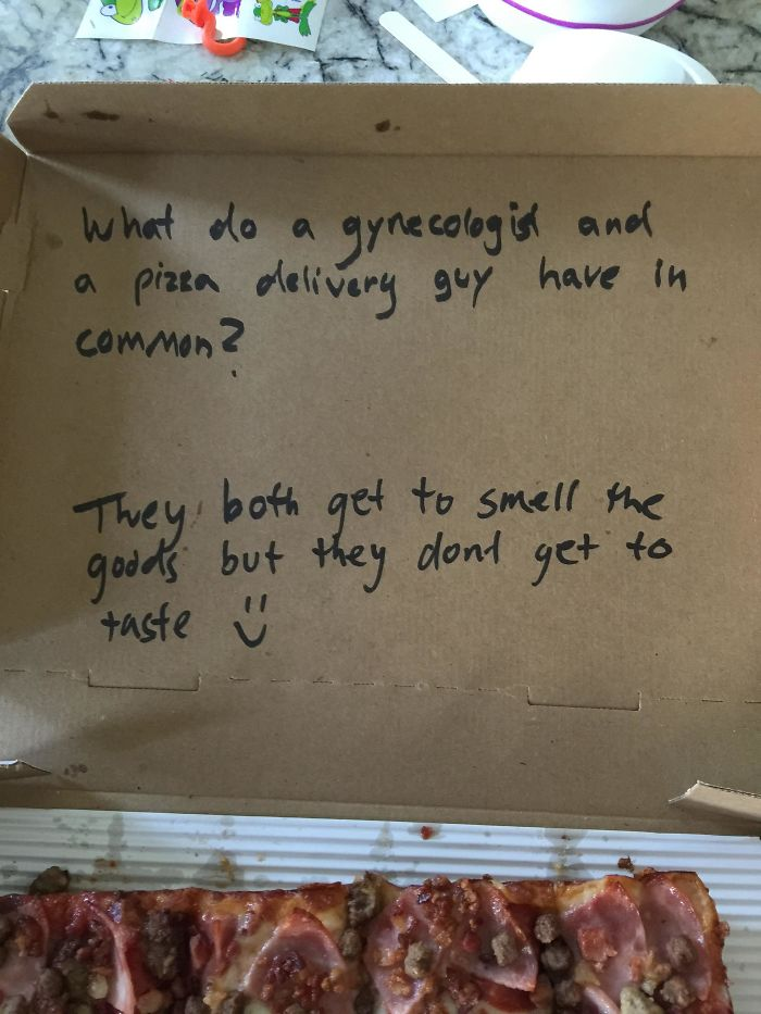 Asked For A Joke In My Pizza Box, They Did Deliver