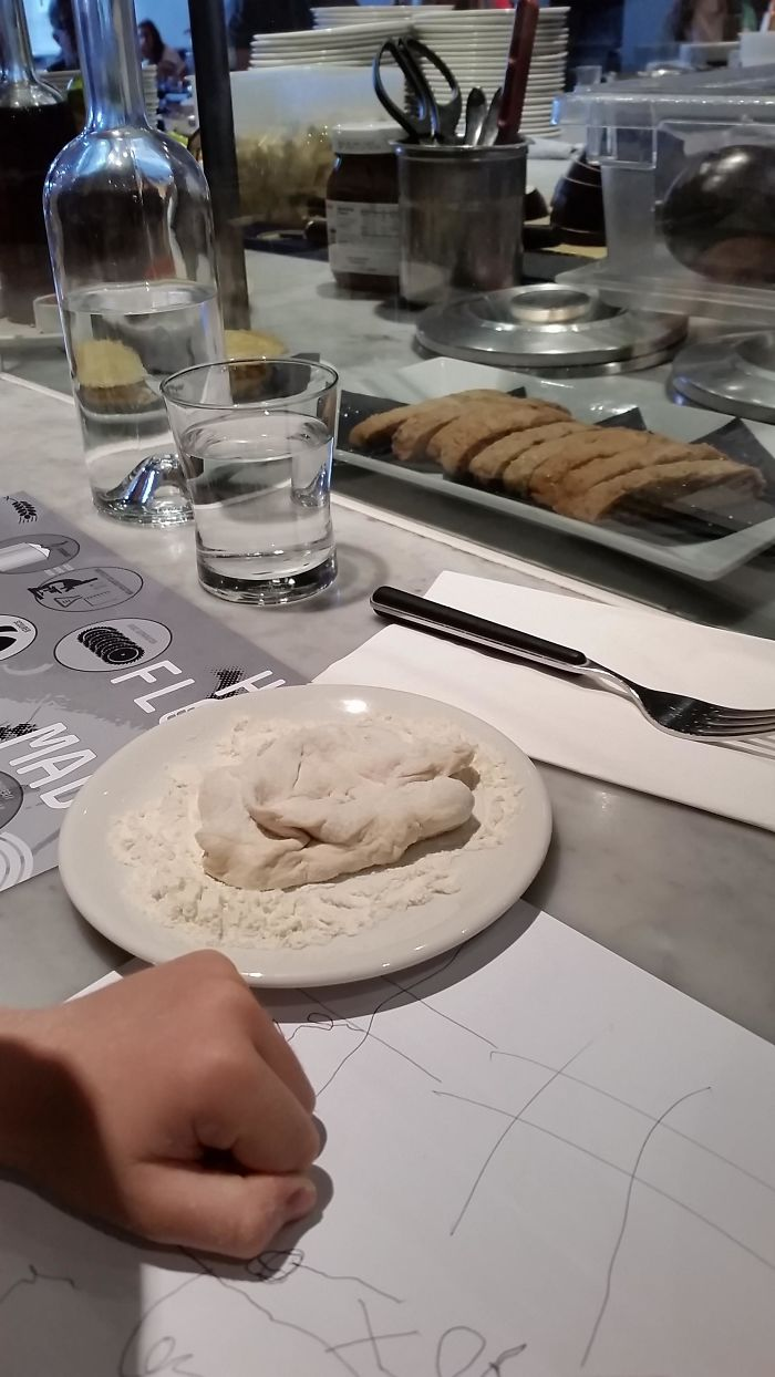 This Pizzeria Gives Pizza Dough To Every Child For Playing With