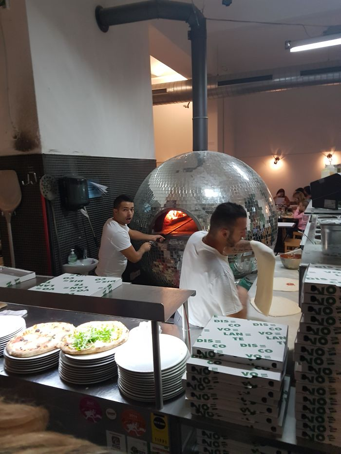 This Disco-Ball Pizza Oven