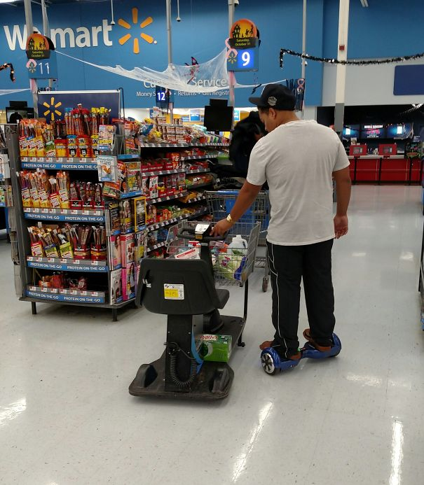 A Normal American Shopping At Walmart