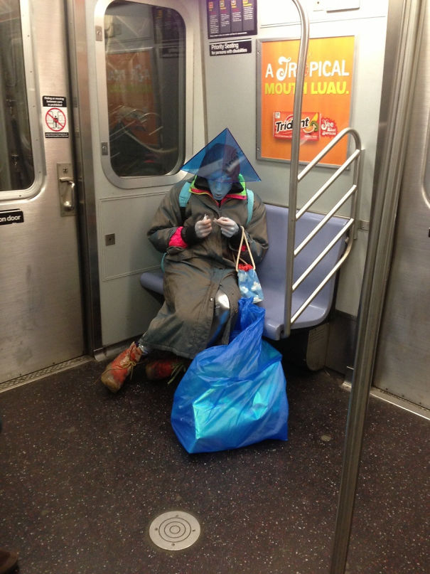 I Saw An Alien On The Subway Last Night