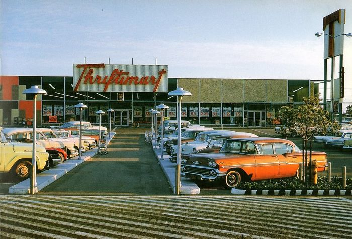 Grocery Store Parking Lot, West Covina, CA, 1959