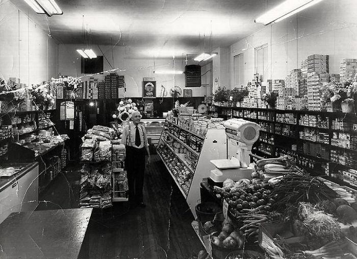 My Great Grandfather Standing In His Grocery Store, Evansville, IN, 1960