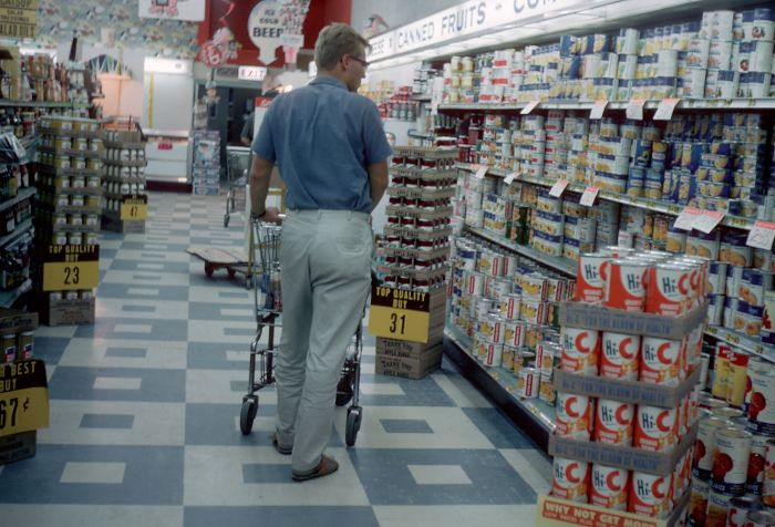 My Dad Doing Groceries During His High School Exchange Year In Michigan, 1962