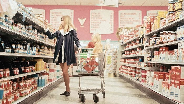 Food Shopping And Mini-Skirts, 1970