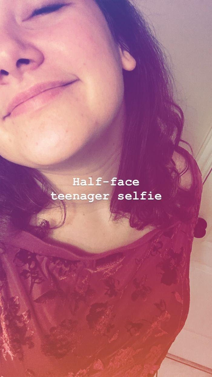 Half-Faced Teenager Selfie