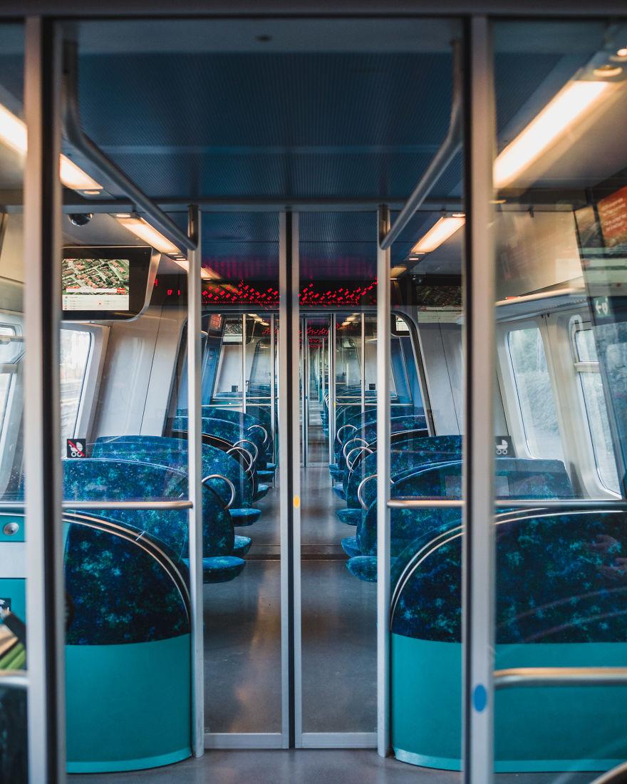 An Empty Train Car