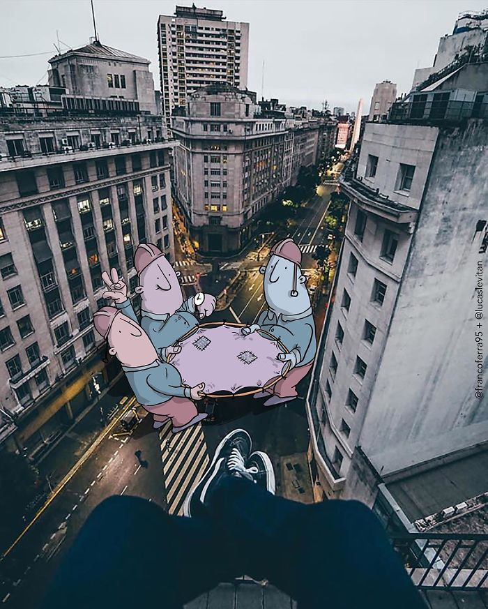 Artist Invades Instagram Photographs With Hilarious Illustrations (Part 4)
