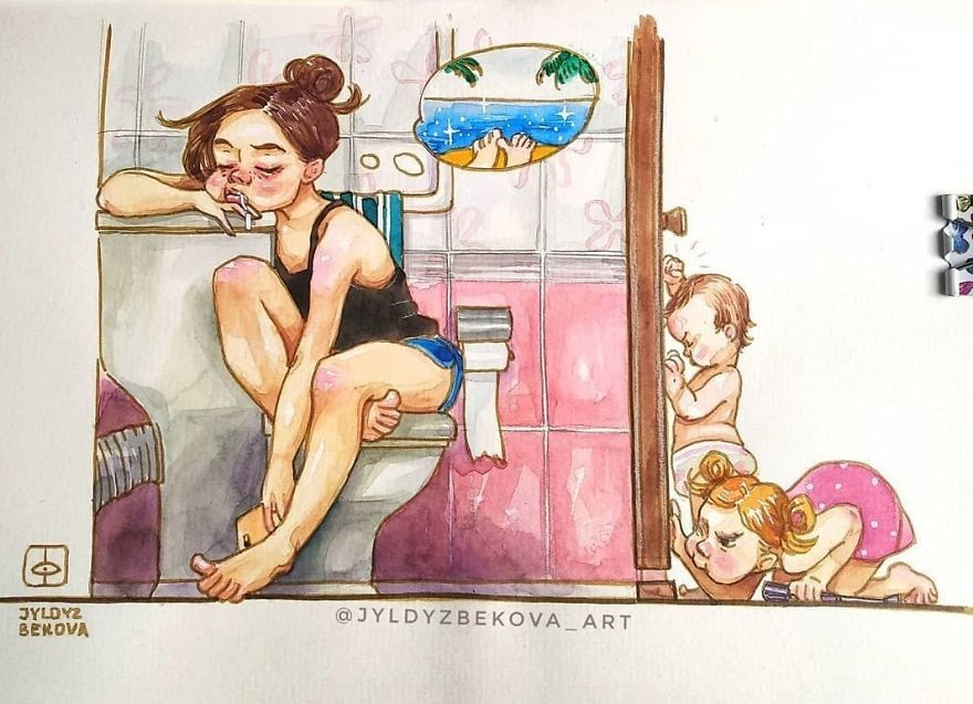 Funny Mother Illustrations