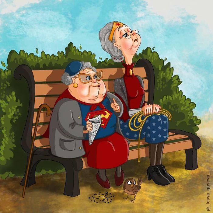 Supergirl y Wonder Woman