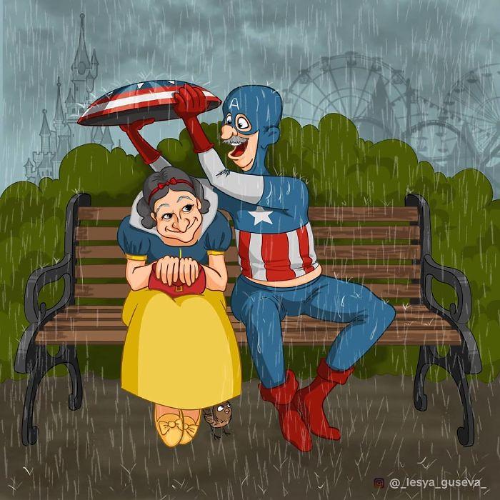 Blancanieves y el Capitán América