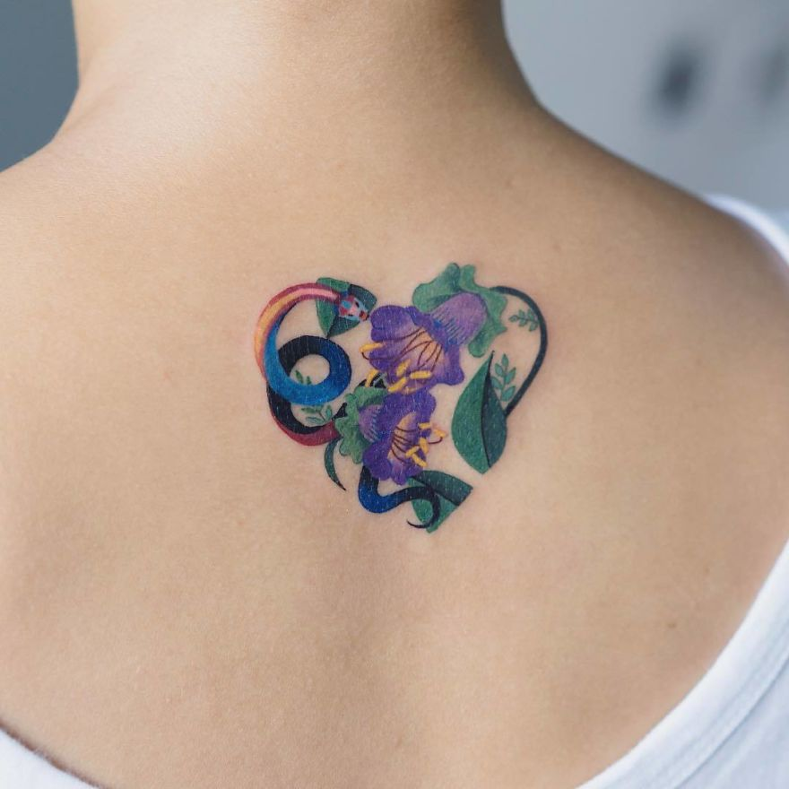 Colorful-Snake-Art-Zihee-Tattoo