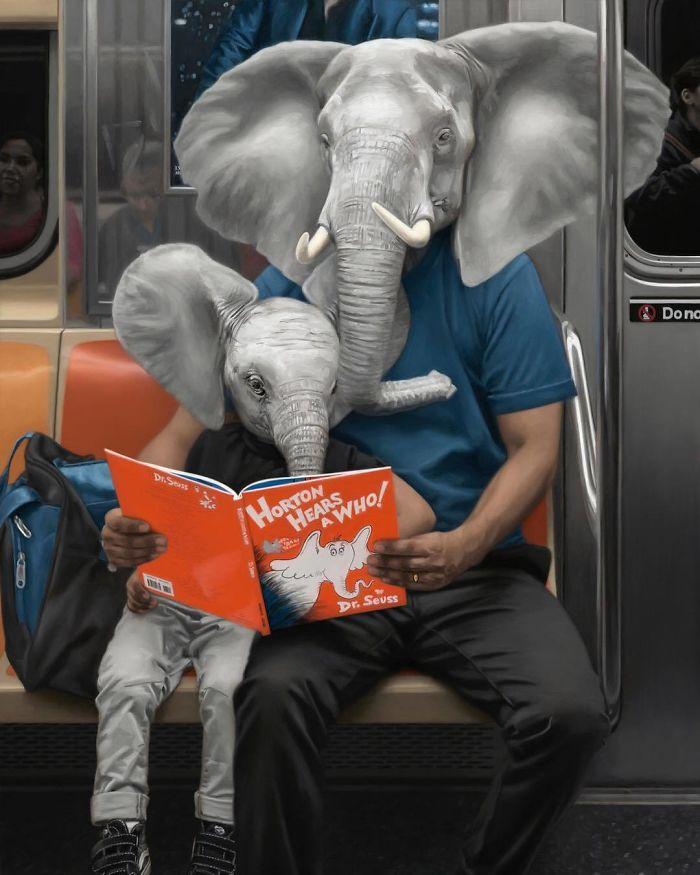 Subway-People-Animal-Heads-Paintings-Matthew-Grabelsky