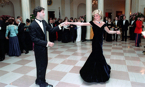 November 9, 1985: Princess Diana Dancing With John Travolta At A State Dinner Given By President And Mrs Reagan At The White House, Washington, D.c.