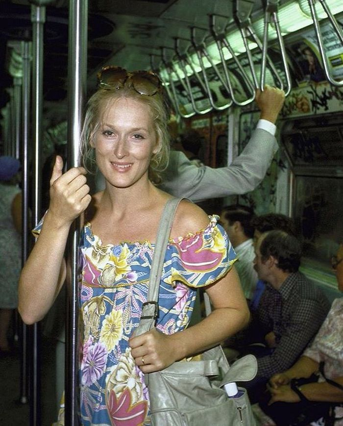 Meryl Streep On The Subway Taken By Ted Thai In 1981