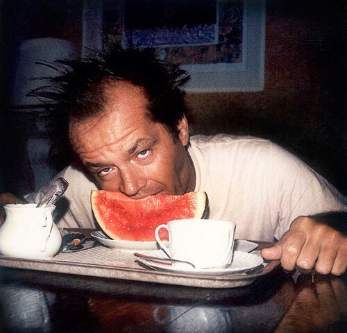 Jack Nicholson Eating His Breakfast