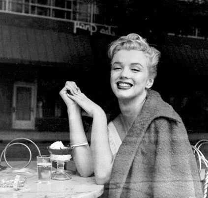 Photo Of Marilyn Monroe Taken Through A Café Window, 1952