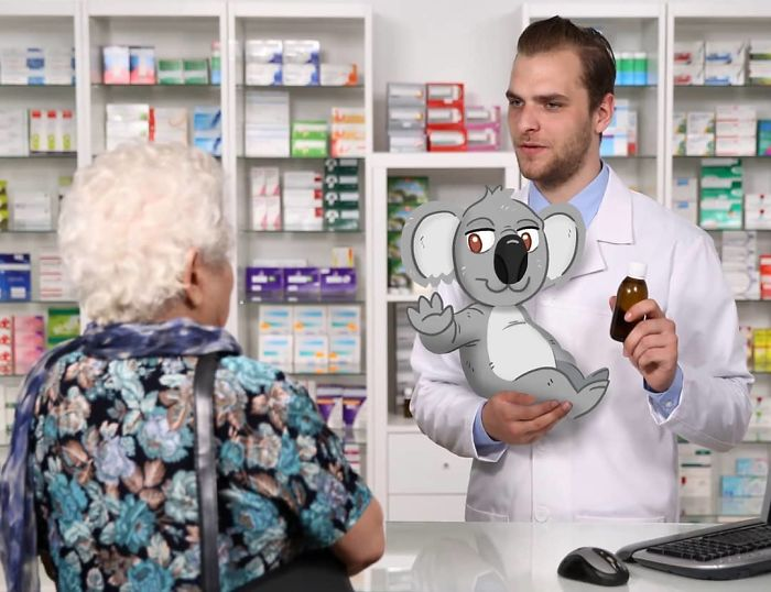 """Okay, Apply These Drops To Your Ears And Then Apply This Koala To A Eucalyptus Tree."" ""What?"" ""I'm Just Reading What Your Doctor Wrote Lady"""