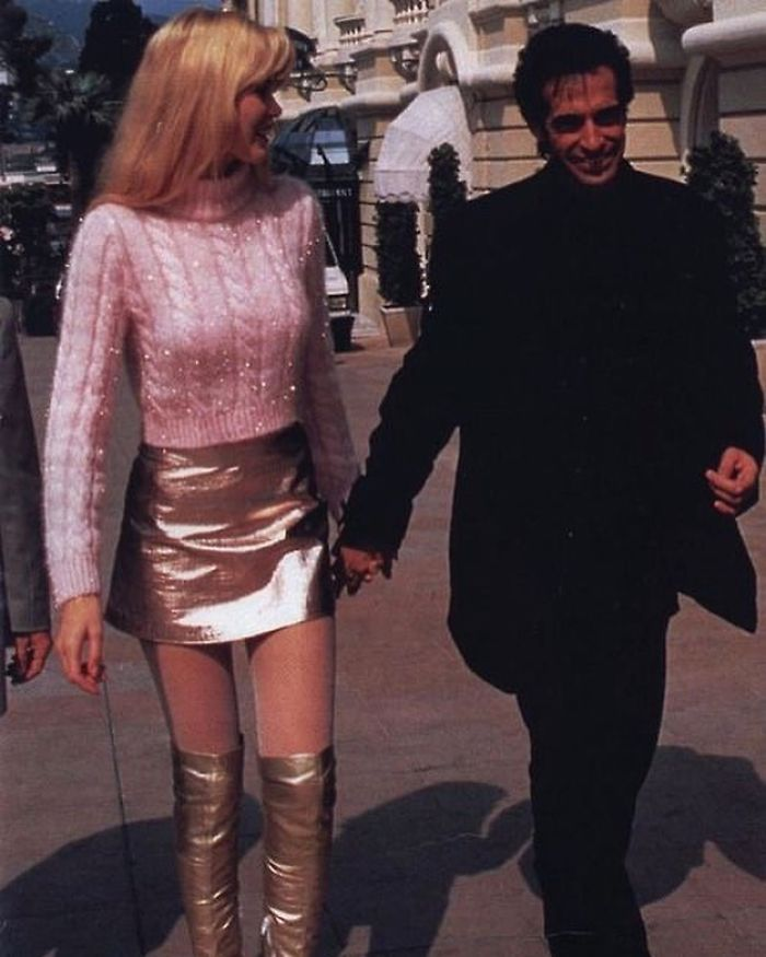 Claudia Schiffer Wearing Gianni Versace With David Copperfield, 1994