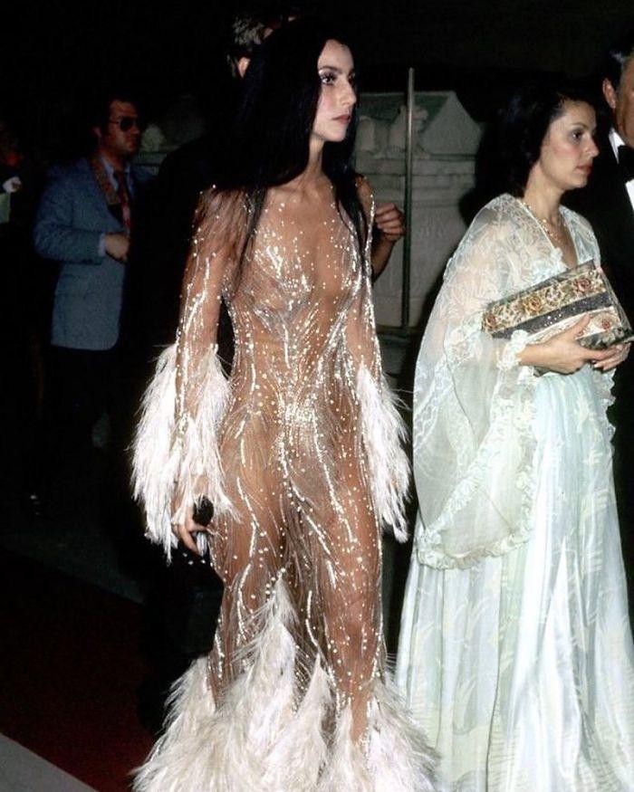 Cher Attending Met Gala In 1974