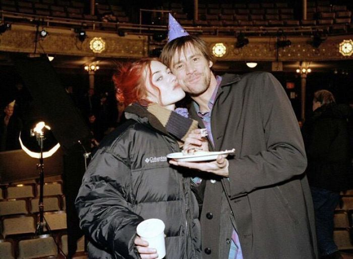 Jim Carrey And Kate Winslet Behind The Scenes Of Eternal Sunshine Of The Spotless Mind