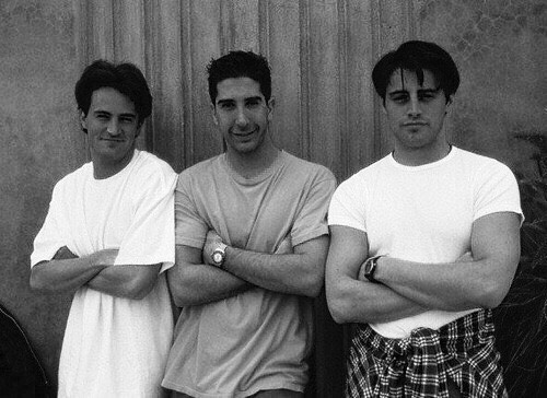 Matthew Perry, David Schwimmer, Matt LeBlanc