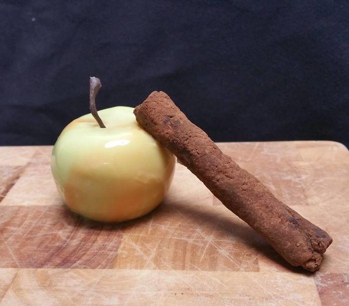 Baked Apple Parfait, Cinnamon Tuille