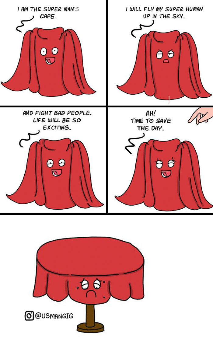 Comics Based On Perspective Of Non-Living Objects