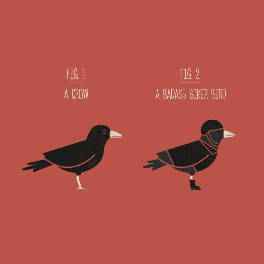 Crow Or Biker Bird