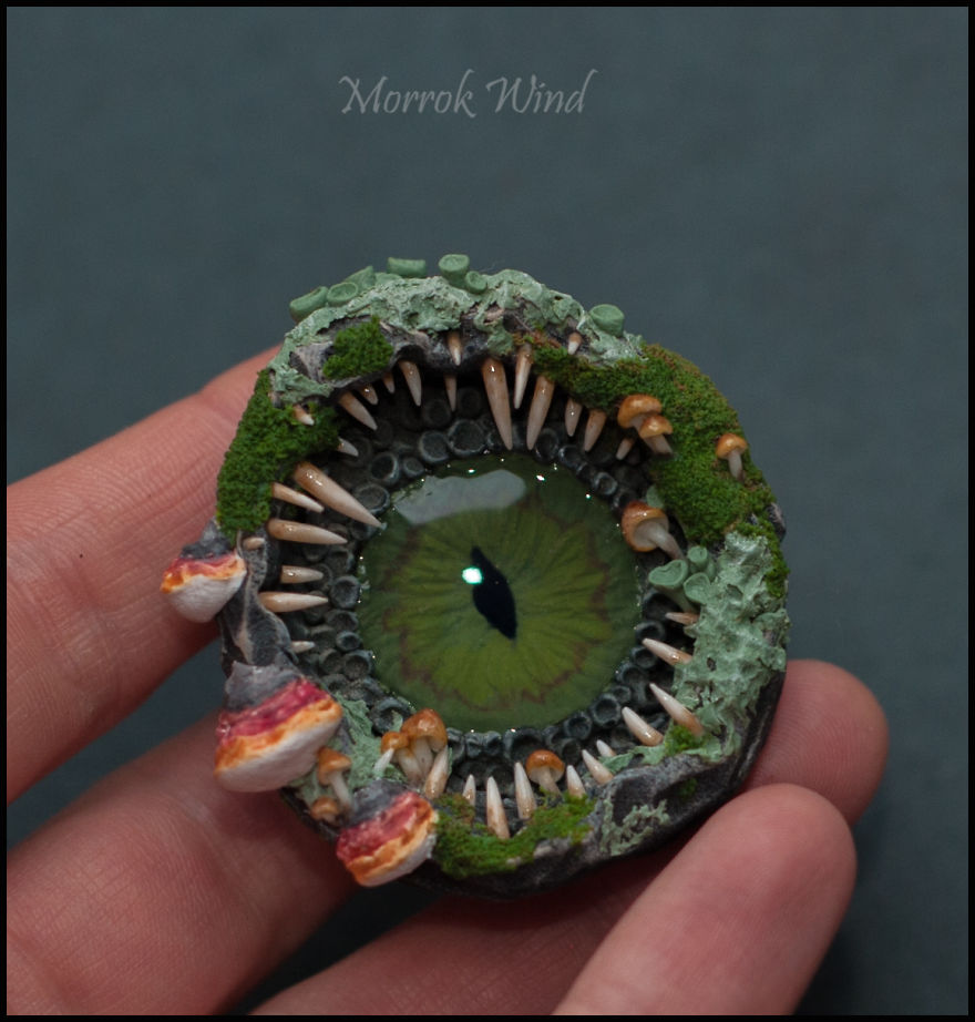 I Am Inspired By The Forest And Natural Textures To Create Decorations From Polymer Clay